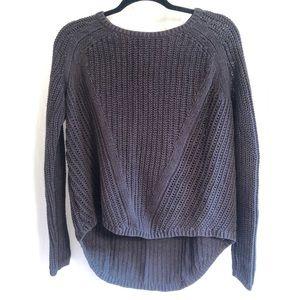 H&M Hi-Lo Hem Textured Knit Sweater